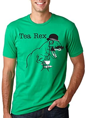 The Tea Rex T-Shirt Funny Graphic Dinosaur Gentlemen Monocle Tee