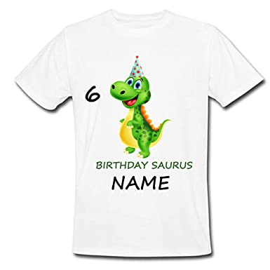 670f09034 Sprinklecart Ideal Dinosaur 6th Birthday T Shirt Gift | Customized Birthday  Gift for Boys (1