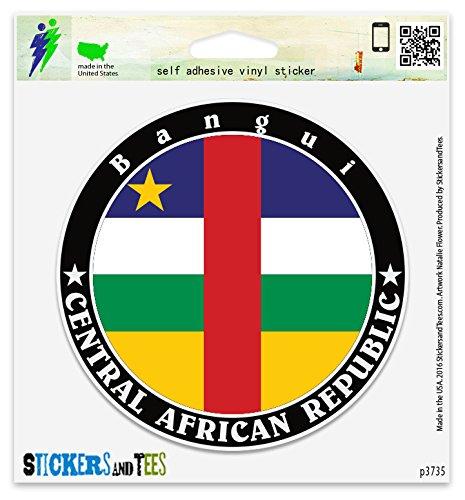 Central African Republic Bangui Vinyl Car Bumper Window Sticker 10
