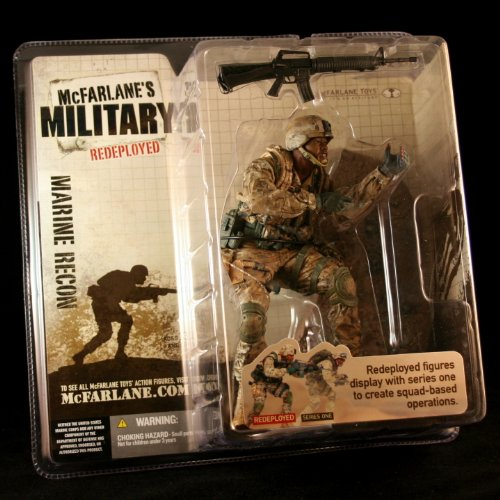 MARINE CORPS RECON * AFRICAN AMERICAN VARIATION * McFarlane's Military Redeployed Series 1 Action Figure & Display Base