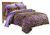 king camo quilt - 20 Lakes Super Soft Microfiber Camo Comforter Spread (King, Purple)
