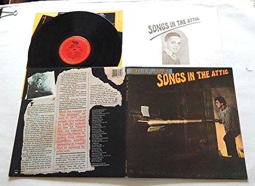 Billy Joel SONGS IN THE ATTIC - Columbia Records 1981 - USED Vinyl LP Record - With Lyrics Insert - Live album: