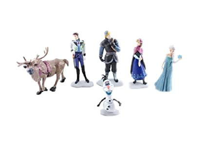 Amazoncom Frozen Cake Decoration Toppers Figures Toy Playset Doll