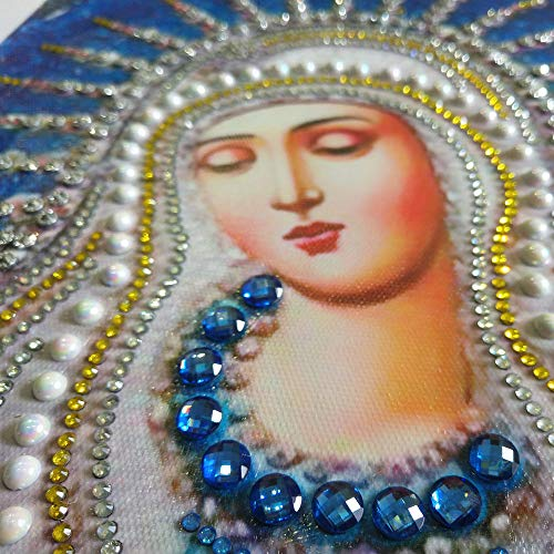 Special Shaped Diamond Painting Madonna - Franterd DIY 5D Partial Drill Cross Stitch Kits Crystal Rhinestone of Picture Diamond Embroidery Mosaic Arts Craft Home Wall Decor by Franterd Home Decor (Image #6)