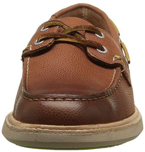 Sebago Smyth Two Eye, Scarpe Stringate Uomo Marrone (Brown Leather)