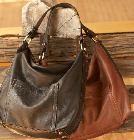 Hollister Large Hobo Concealed Carry Handbag (Brown), Bags Central