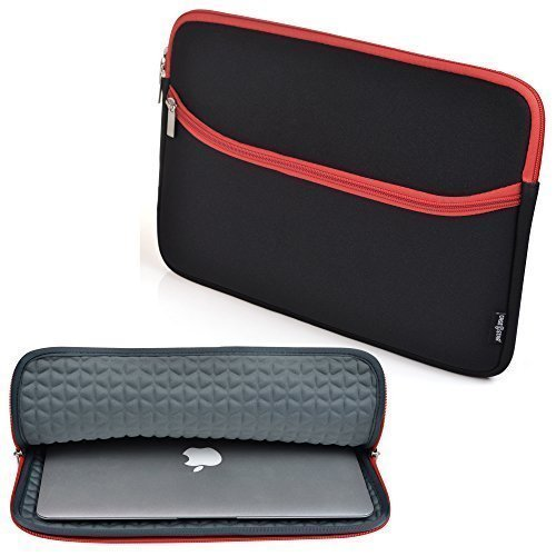 Case Star EVA Foam Padding  Neoprene Sleeve Case for 11-Inch Laptop (Black/Red)