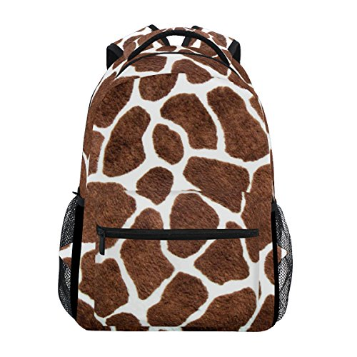 TropicalLife Animal Giraffe Print Backpacks Bookbag Shoulder Backpack Hiking Travel Daypack Casual - Print Laptop Giraffe Bag