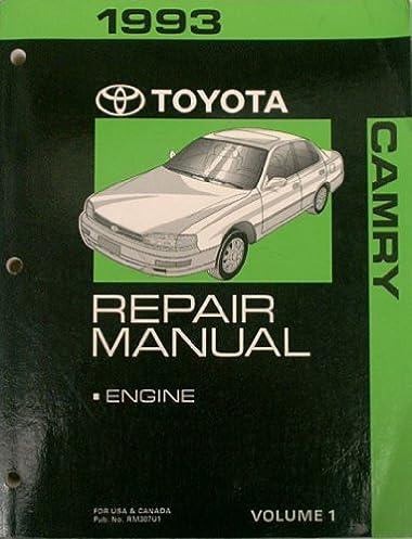 1993 toyota camry repair manual engine volume 1 toyota motor rh amazon com 1998 toyota camry service manual download 1998 Toyota Camry Maintenance Schedule