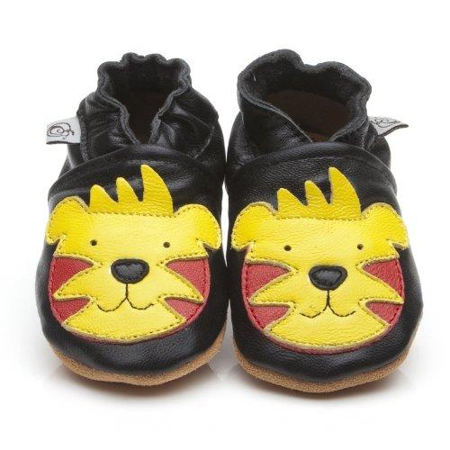 Suaves Zapatos De Cuero Del Bebé Tigre 6-12 meses