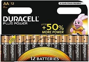 Duracell Plus Power Piles Alcalines type AA, Lot de 12
