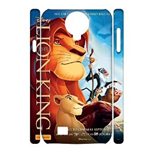3D {The Lion King Series} Samsung Galaxy S4 Case Cute Kittens Reenact the Lion King Movie, Girl Case Stevebrown5v - White
