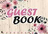 Guest Book: Vintage For Wedding, Birthday, Events, Anniversary. Party Guest Book. Keepsake Gift for Wishes, Comments Or Predictions.