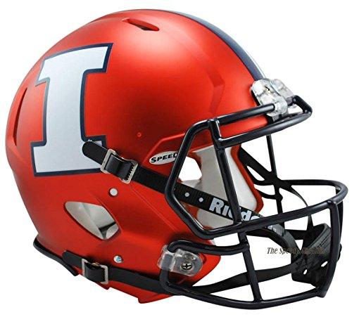 Illinois Fighting Illini Riddell Speed Full Size Authentic Orange Football Helmet by Riddell
