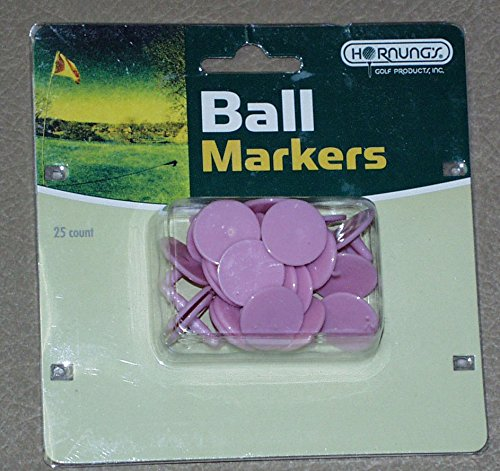 Plastic Ball Marker Pack of 25 PINK