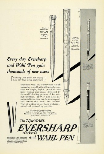 1925 Ad Sterling Pen Fountain Ballpoint Writing Instruments Wahl Eversharp - Original Print Ad from PeriodPaper LLC-Collectible Original Print Archive