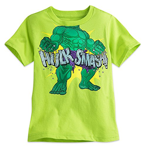 Marvel ''Hulk Smash'' Tee for Boys Size M (7/8) Green456223677879 (Hulk Smash Shirt)