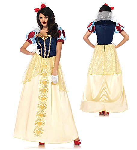 Leg Avenue Women's Deluxe Classic Snow White Halloween Costume, Multi, -