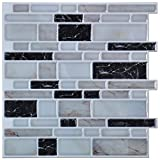 Art3d Peel and Stick Kitchen or Bathroom Backsplash Tile, Wall Stickers 12in x 11in Pack of 6 Sheets