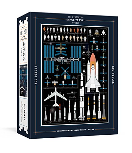 The History of Space Travel Puzzle: Astronomical 500-Piece Jigsaw Puzzle & Poster (Pop Chart -