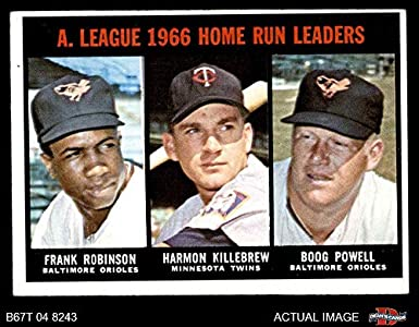 Amazoncom 1967 Topps 243 Al Hr Leaders Harmon Killebrew