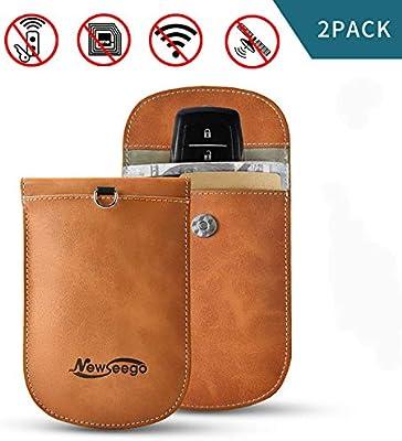 Bloqueador de señal 2x Auto clave caso bolsa de Bloqueo de RFID Faraday Cage Bolsa sin llave FOB
