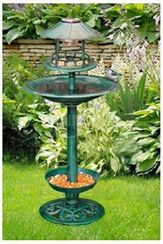 Solar Light Bird Feeder Bird Bath Planter - 6