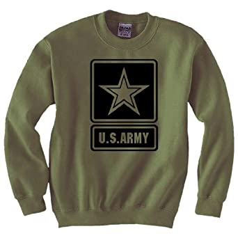 Amazon.com: US Army Star Modern Logo Crewneck Sweatshirt in ...