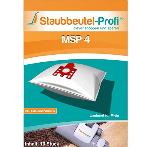 10 Staubsaugerbeutel geeignet für Miele S 8000, S 8340, S 8370 EcoLine, S 8390 EcoSilence Premium Edition von Staubbeutel-Profi® Made in Germany