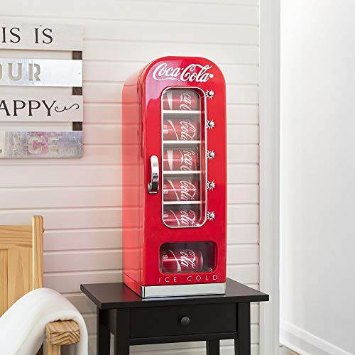 Koolatron CVF18 Retro-designed Thermoelectric Vending Fridge, Holds up to 10 Cans, Push Button Vending, Tall Window Display, Plugs Into Any Vehicle 12V Plug or Household Outlet, Red by Koolatron (Image #5)