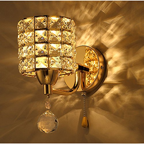 Inhdbox e27 crystal wall lamp wall light sconces lighting for Nella vetrina vanity prices