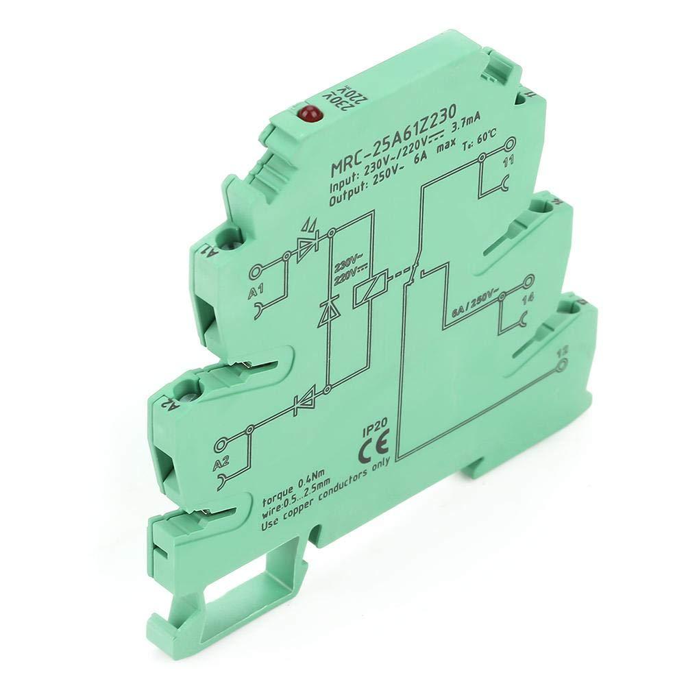 MRC-25A61Z230 PLC M/ódulo de rel/é de interfaz de contacto electromagn/ético Entrada 230VAC//220VDC 1NO 1 NC Rel/é de interfaz PLC