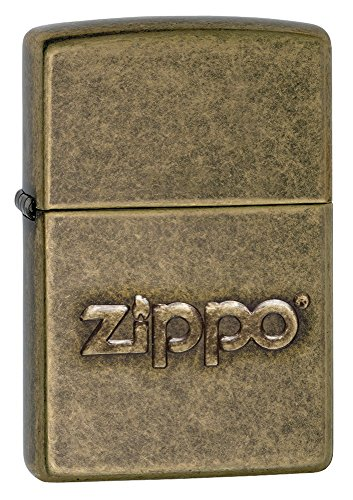 Zippo Stamped Pocket Lighter, Antique Brass (Zippo Brass Antique)