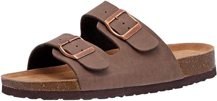 CUSHIONAIRE Women's Lane Cork Footbed Sandal with +Comfort   Amazon