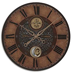 Bronze Weathered 23Dia Wall Clock Weathered Bronze Dimensions: 2D X 23 Diameter Weight: 7 Lbs