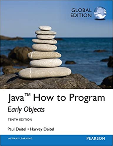 Amazon Com Java How To Program Early Objects Global Edition