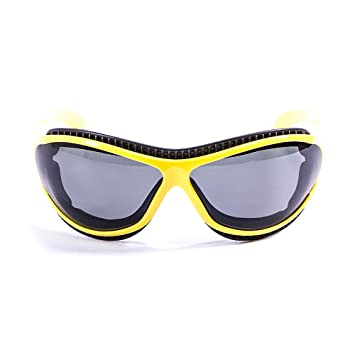 OCEAN SUNGLASSES tierra de fuego - lunettes de soleil polarisÃBlackrolles - Monture : Jaune LaquÃBlackroll - Verres : FumÃBlackrolle (12200.7) zcxVREeL