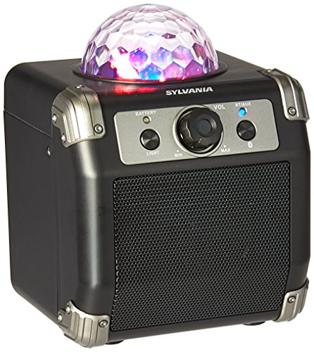 Sylvania Bluetooth Speaker with Disco Ball Top (SP613) (Best Disco Lights Ever)