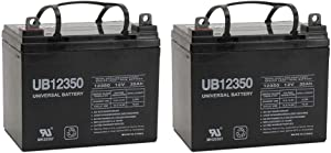 Universal Power Group 12V 35AH Pride Mobility Jet 3 Ultra Wheelchair Replacement Battery - 2 Pack