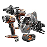 Ridgid ZRR9632 Gen5X Hammerdrill, Circular Saw and Flashlight kit with 1 4.0 AH Battery and charger