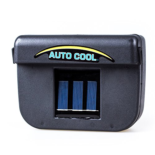 SODIAL(R) 1W Solar Powered Window Fan Ventilator Auto Air Vent For Car Vehicle Black