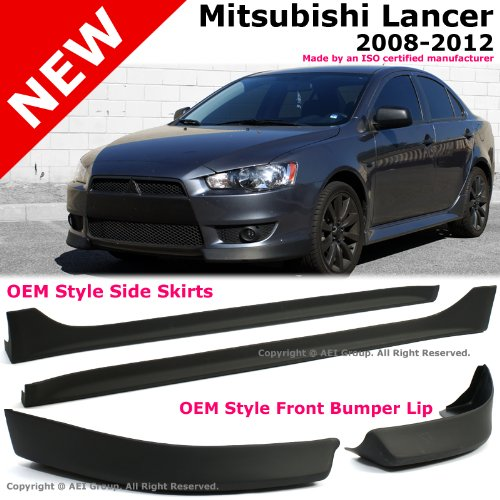 mitsubishi lancer 08 12 front bumper lip spoiler side skirt body kit air dam in the uae see prices reviews and buy in dubai abu dhabi sharjah