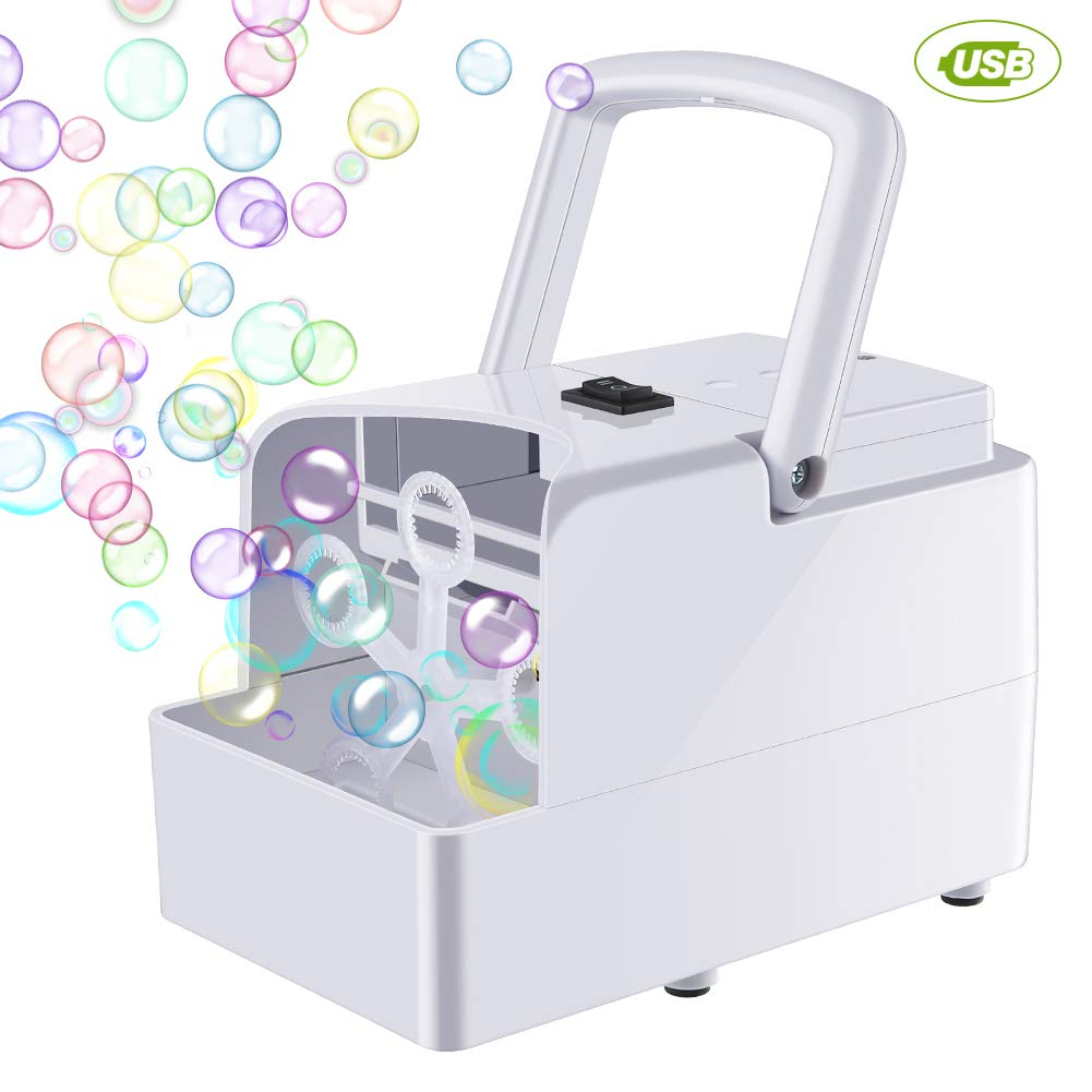 Blibly Bubble Machine Blower Automatic Bubble Machine for Kids Toddler Dog with 2 Speed Levels Powered by USB Charger or Batteries by Blibly