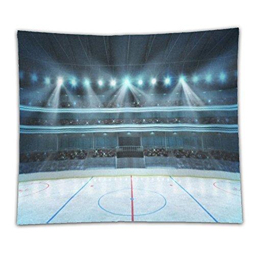 Beshowereb Fleece Throw Blanket Hockey Stadium With Fans Crowd Cotton Linen Art Home Decor - Francisco South Shopping San