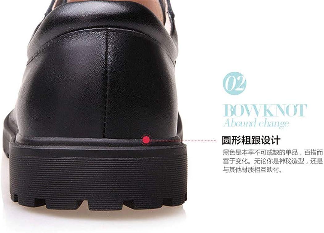 Boys School Leather Shoes Kids Genuine Leather Wedding Shoes Children Oxford Shoes Black 4.5M US