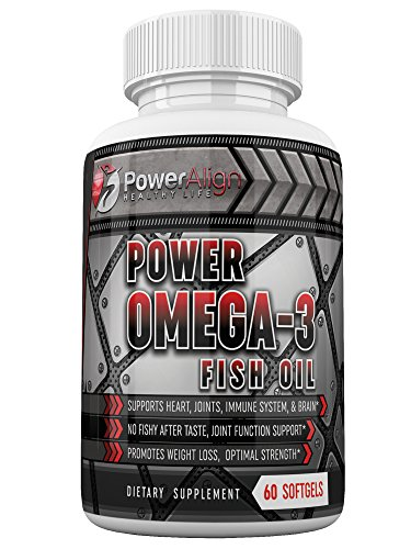 Power Omega-3 Fish Oil Optimum Strength | 1000mg 60ct Softgel Capsules | EPA 160mg DHA 120mg
