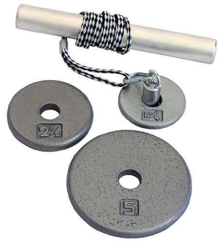 Power Wrist Roller w/ 1'' Grey Plates (1.25lb, 2.5lb & 5lb) by Ader Sporting Goods
