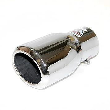 Autohobby 286D - Embellecedor de tubo de escape, universal, acero inoxidable hasta 73 mm de diámetro, cromado: Amazon.es: Coche y moto