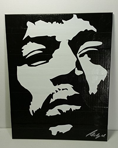 Duct Tape and Vinyl Art Piece of Jimi Hendrix by Living Colored Duct Tape and More...