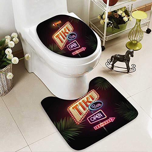 HuaWuhome Non Slip Bath Shower Rug Neon Sign Custom Made Rug - Neon Patriots England Sign New